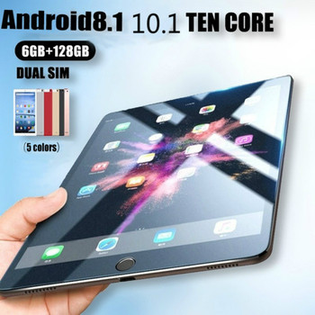 2021 Explosion Models Tablet Android 8.1 6G+128GB Ten Core  10.1 Inches 1280*800 IPS Screen Dual SIM WIFI 4G Mobile Phone Tablet