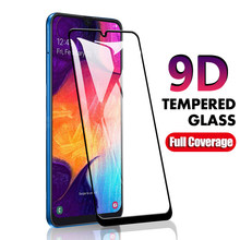 Vidro De Proteção Para Samsung Galaxy A50 9D A40 A70 A20 A80 M30 A30 Completa Tampa de Vidro Temperado em Para Samsung UM 50 50A Glas Tela