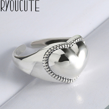 New Trendy Charm Love Heart Rings For Women Men Boho Knuckle Party Rings Punk Cocktail