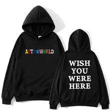 TRAVIS SCOTT ASTROWORLD WENSEN U WAREN HIER HOODIES fashion brief ASTROWORLD HOODIE streetwear Man vrouw Sweatshirt(China)
