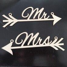 Banderines de boda signos Mr and Mrs silla letrero silla de madera guirnalda Vintage decoración para fiesta de boda accesorios de fotografía