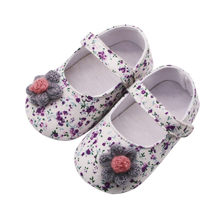 Newest Kids Shoes 2019 Fashion Children Canvas Floral Girl Princess Shoes Toddler Baby Soft Anti-slip Shoes #L5(China)