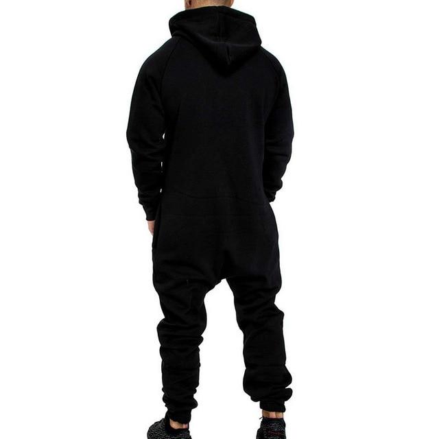 Men One Piece Sets Men's Hooded Fleece Jumpsuit Camouflage Print Personality Casual Suit Men 10