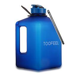 2.7L duża butelka wody z magnesem adsorpcja funkcja telefonu komórkowego siłownia sport przenośne szkło zewnętrzne w Butelki sportowe od Sport i rozrywka na