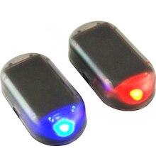 Strobe Signal Security System Universal Flash Warning LED Light Alarm Lamp Car Solar Power Simulation Fake Anti-theft Caution