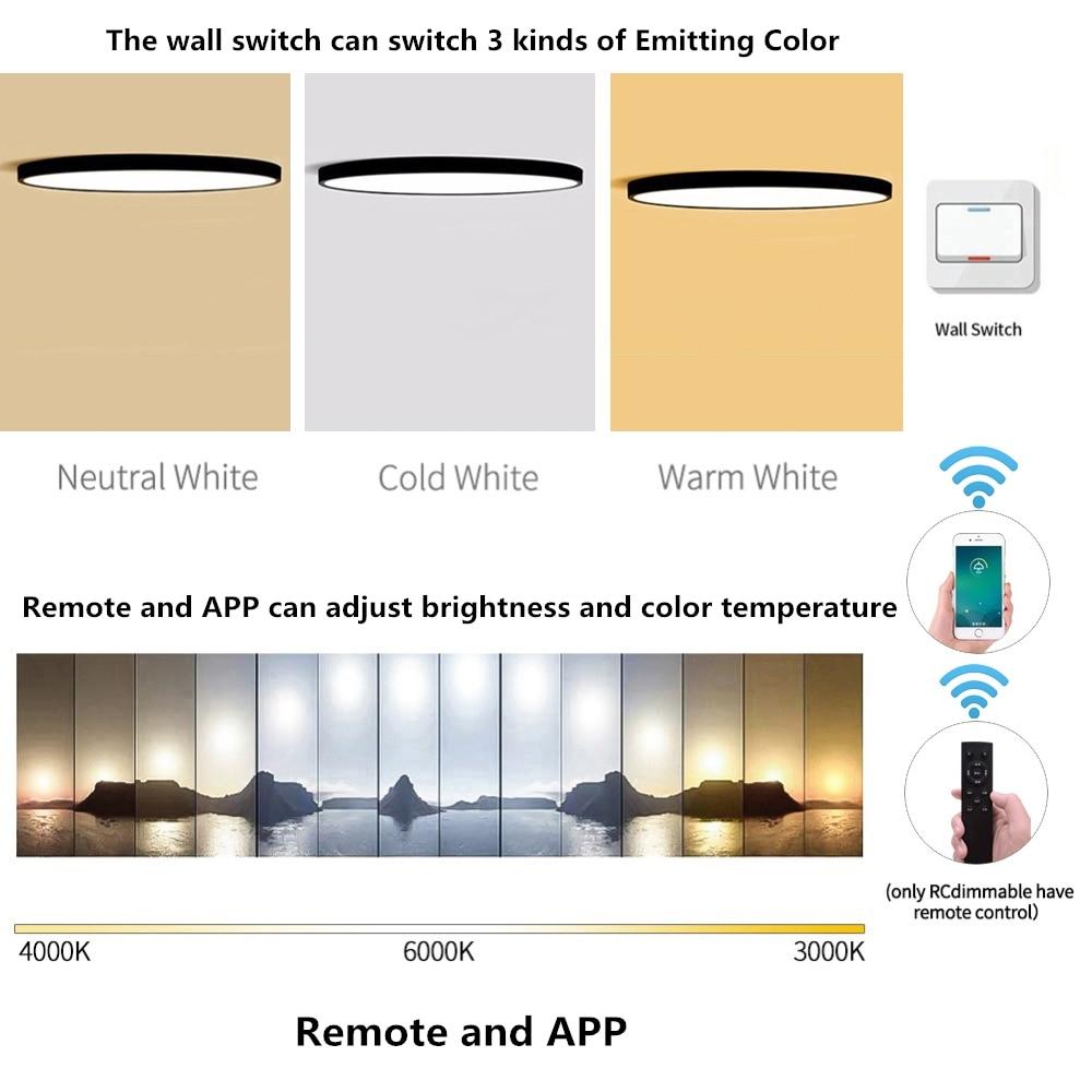 lowest price Ultra-thin LED 5cm Ceiling Light Modern Ceiling Lamp Surface Mount Flush Panel Remote Control Light for Restaurant Foyer Bedroom