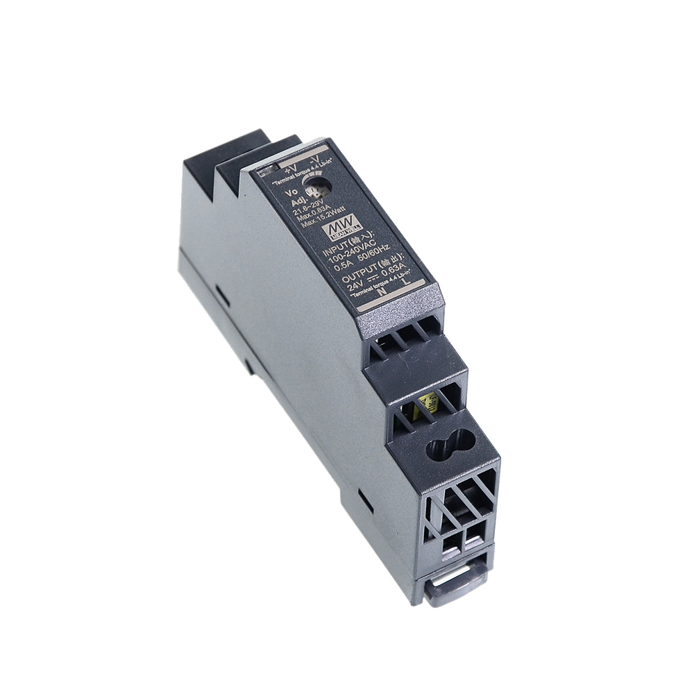 Original Mean Well HDR-15 30 60 100 150 series DC 5V 12V 15V 24V 48V meanwell Ultra Slim Step Shape DIN Rail Power Supply-1