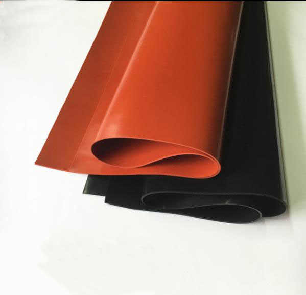 Folha preta do silicone da folha 1.5x250mm vermelha/preta do silicone de 1mm/250mm/2mm, borracha mate, cobertura do silicone para a resistência térmica