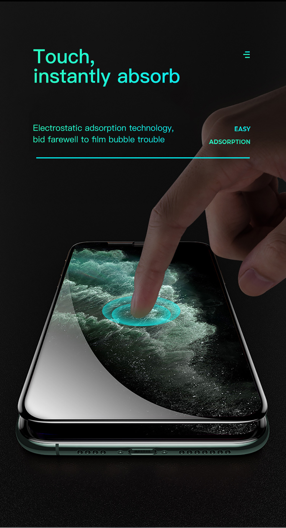 Benks AGC King Kong Glass XPRO 3D Full Cover Screen Protector Glass 0.3mm For iPhone 11 Pro MAX XR X XS Protective Tempered Film (13)