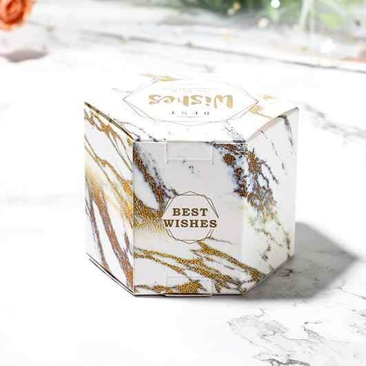 """Шестигранник из крафт-бумаги с рисунком коробка для свадебного подарка день рождения, детский душ Шоколад Мыло лечения подарочные упаковочные коробочки вечерние украшения 2,44"""""""