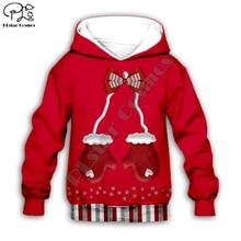 Kids baby Merry Christmas Santa claus reindeer 3D print cartoon hoodie Sweatshirt zipper pullover boy girl plus size christmas kind santa claus sweatshirt
