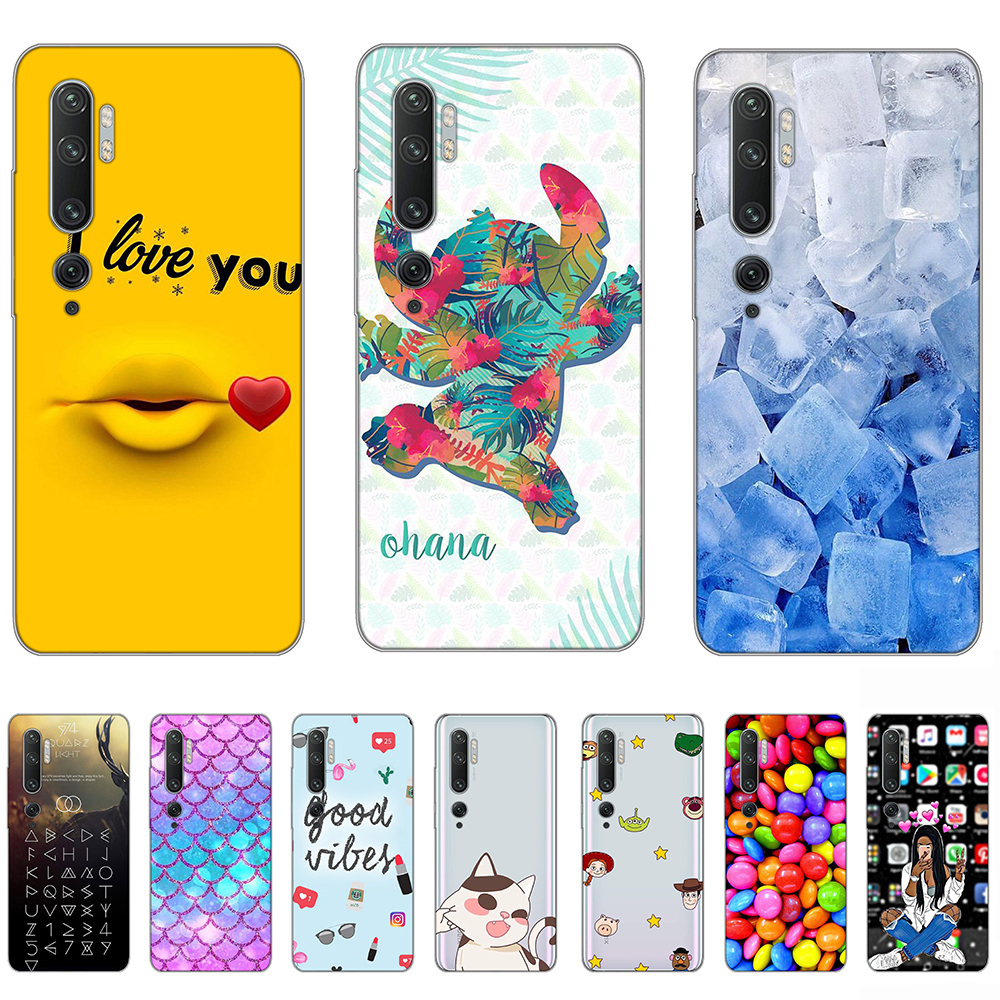 Transparent Case for Xiaomi Note10 Tpu Back Cover for Xiaomi Note 10Pro Shock Absorption Anti Fall Silicone Full Protective