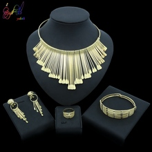 Yulaili New Ethiopian Round Jewelry Set Gold Silver Color Necklaces Earrings Bracelet Ring Bridal Wedding Jewelry Accessories недорого