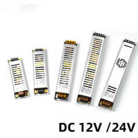 Ultra-Thin LED Power Supply DC12V 60W 100W 150W 200W 300W Adapter LED Lighting Transformer 220V 12V 24V For Led Strip