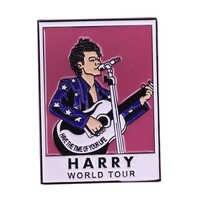 Harry Styles world tour enamel pin guitar music badge gay pride badge LGBT jewelry pastel art accessory