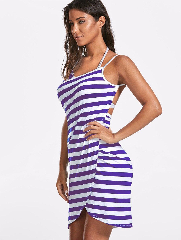 Home Textile Towel Women Robes Bath Wearable Stripe Towel Dress Girls Women Fast Drying Beach Spa