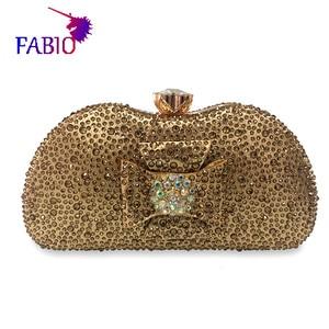 Image 3 - 나이지리아 이브닝 드레스 꽃 desgin 다이아몬드와 함께 아름 다운 여자 가방 좋은 품질 숙 녀 가방