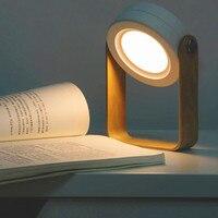 Creative gift charging warm night light lantern lamp reading bedroom bedside table lamp ypf080803