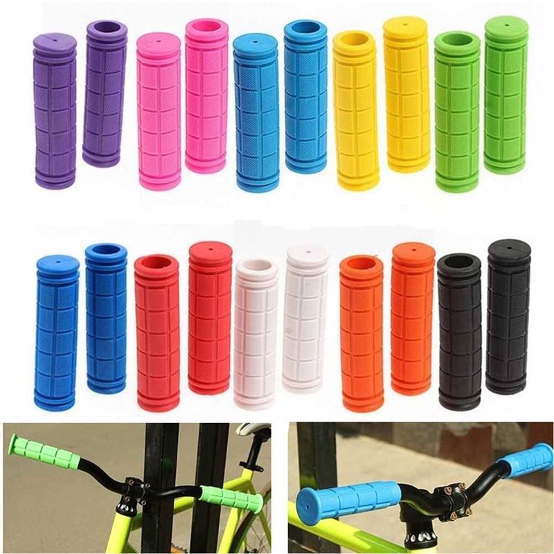 154.54руб. 35% СКИДКА|1 пара мягких прочных резиновых рулей для велосипеда, противоударные Нескользящие ручки для горного велосипеда|Упоры для рук на руль велосипеда| |  - AliExpress