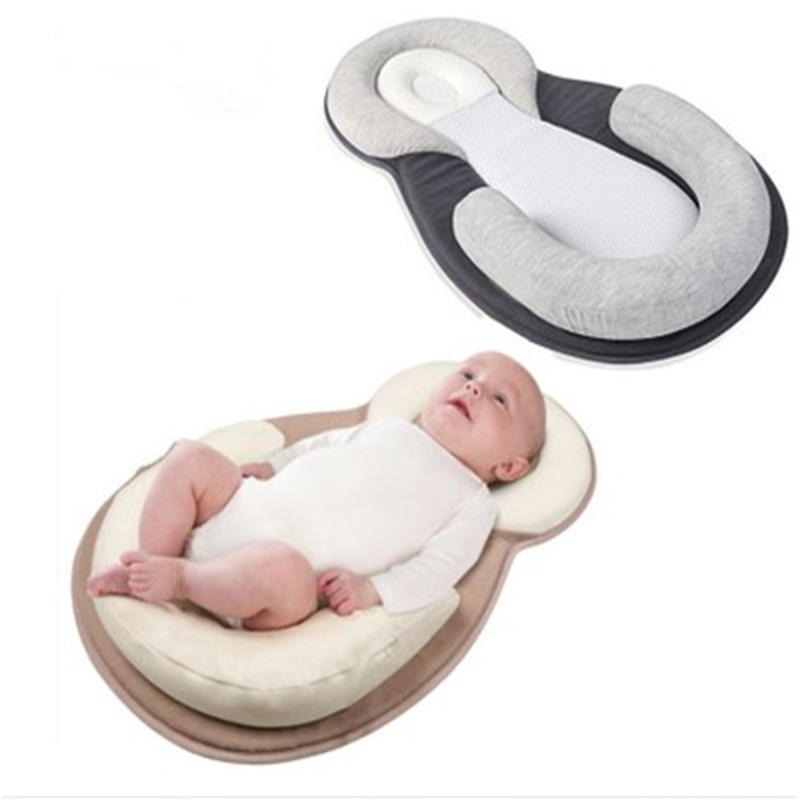 Newborn Pillow Latex Shaped Styling Pillow Infant 2 Color Stereotypes Pillow Kid Anti-rollover Mattress Sleeping Positioning Pad