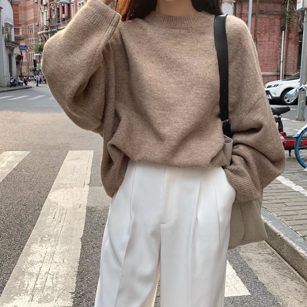 Autumn Winter Women Sweater Knitted Pullovers Loose Casual Sweaters Female Jumper Cashmere