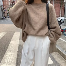 Autumn Winter Women Sweater Knitted Pullovers Loose Casual Sweaters Female Jumpe