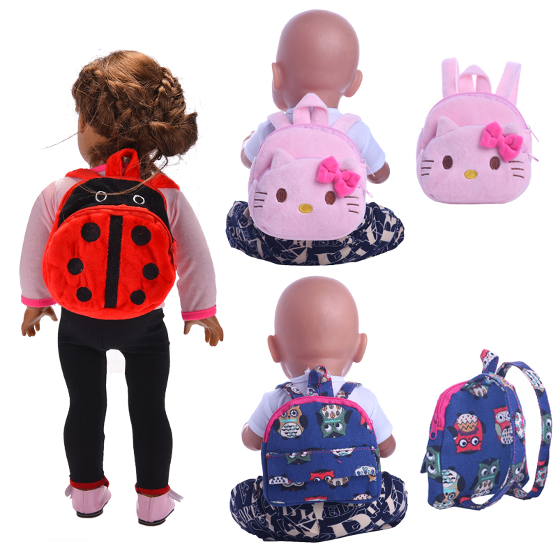 Doll Backpack Beetle Cat Cute For 18 Inch American&43 Cm Born Baby Doll Accessory Our Generation Birthday Girl's Toy Gift