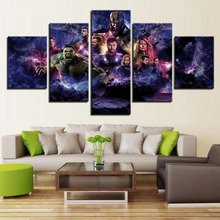 Wall Art HD Picture Home Decoration 5 Piece Movie Avengers 4 Endgame Hero Character For Living Room Printed Type Modern Painting