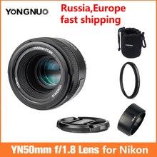 YONGNUO YN 50mm F1.8 Ống Kính AF YN50mm Khẩu Độ Lấy Nét Tự Động Khẩu Độ Lớn cho MÁY ẢNH Nikon DSLR như AF S 50mm 1.8G , YN35mm F2.0 F2N