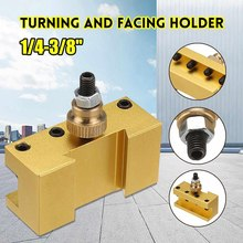 Promotion! 1/4-3/8 Inch 20X25X50Mm Lathe Quick Change Tool Post Turning Facing Holder Milling Cut Tool Holder for CCMT TCMT Mill(China)