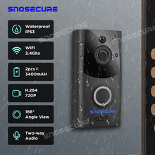SNOSECURE Waterproof Video Call Wifi Doorbell Intercom Alarm for Home Wireless V