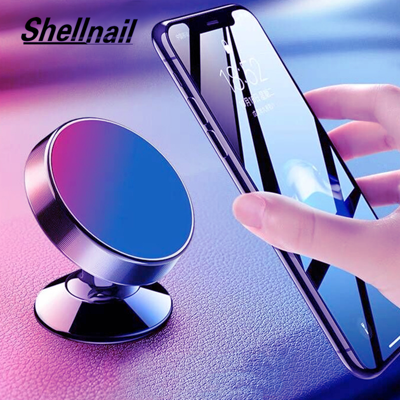 SHELLNAIL Magnetic Car Phone Holder Stand For Iphone Samsung Universal Car Dashboard Mount Mobile Phone Stand Magnet GPS Holder