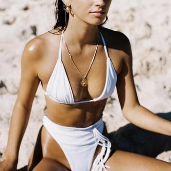 ZTVitality Sexy Push Up Bikini 2020 Hot Sale Padded Bra Thong Bikinis High Waist String Swimsuit Female Biquini Swimwear Women