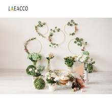 Laeacco Интерьер Зеленый растение Новорожденный ребенок 1 й