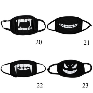 Image 4 - 4 Pcs Can Choose Colors Protective Filter Windproof Earloop Adult PM2.5 Masks Cute Cartoon Face Mask Unisex Anti Dust Mouth Mask