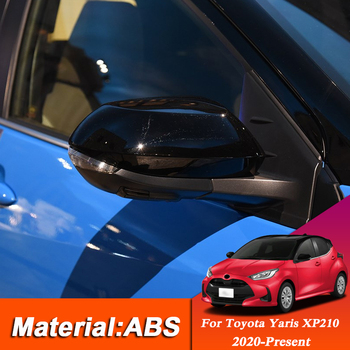 For Toyota Yaris XP210 2020-Present ABS Car External Rearview Mirror Cover Sequins Auto Stickers Car Decoration Accessories