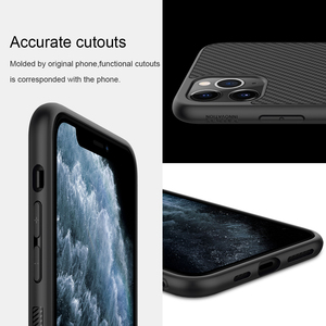 Image 4 - מקרה עבור iPhone 12 Mini 11 Pro Max XR X XS Max iPhone11 מארז Nillkin סינטטי סיבי פחמן פלסטיק כיסוי עבור iPhone 11 מקרה