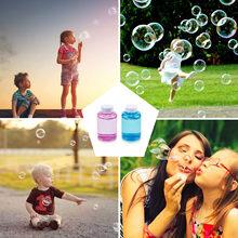 Máquina de burbujas de agua para niños, suplemento de burbujas líquidas de agua de múltiples colores, accesorios de juguetes al aire libre, 150ML