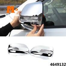 цена на ABS Chrome Car Styling for Toyota Prado FJ150 FJ 150 2010 to 2018 Side Door Rearview Mirror Cap Cover Auto Exterior Accessories