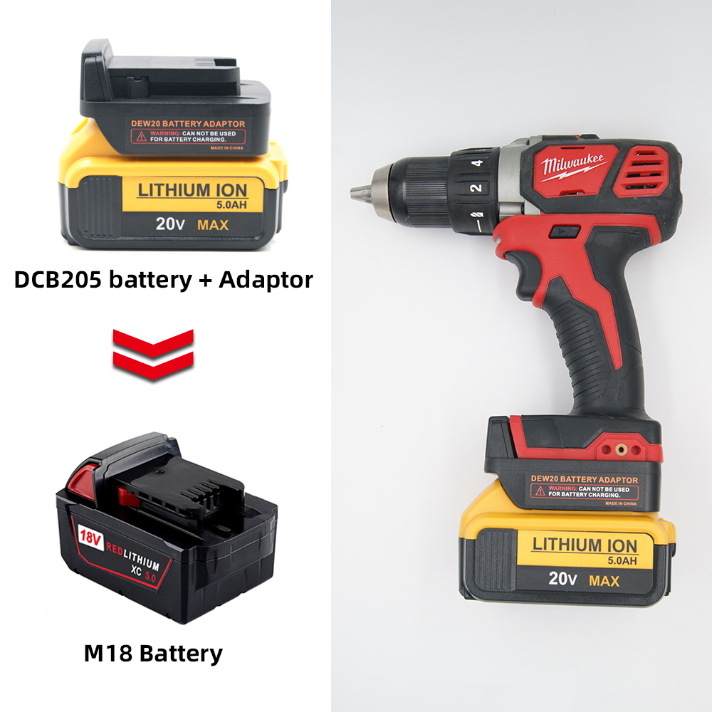 Battery Converter For Dewalt 18V/20V MAX Lithium Battery Convert To  Milwaukee M18 18V Lithium Battery Power Tool Accessories