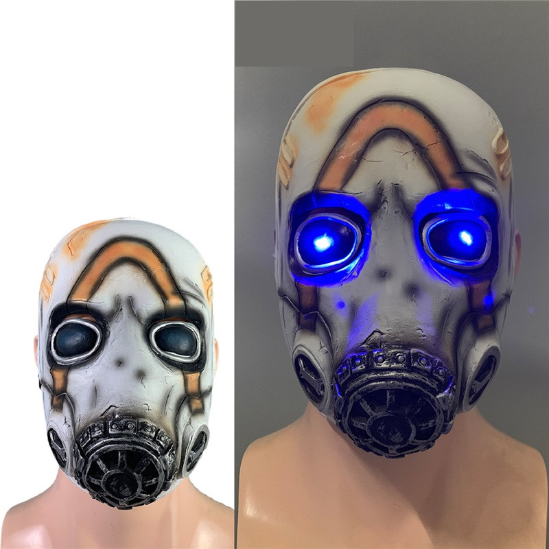 Hot Sale Game <font><b>Borderlands</b></font> 3 Psycho Mask Cosplay Krieg Latex Mask Halloween Cosplay Props LED/No LED 2 Types Wholesale image