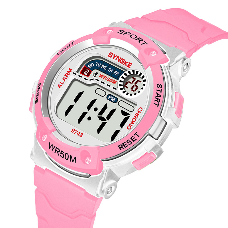 Kids Student Led Digital Watches 5bar Waterproof Wacth Cool Colorful Luminous Dial  Alarm Date Boy Girl Watches Relogio Infantil