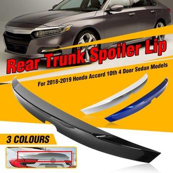 Nowy niebieski/biały/czarny MCX kaczy dziób z tyłu samochodu Trunk Boot Lip Spoiler skrzydło Lip pokrywa bagażnika dla Honda dla accord Sedan 10th 2018-2019