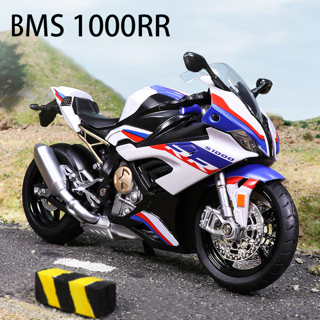 1:12 Diecast Motorcycle Model Toy BM S1000RR Replica With Sound & Light Boy gift birthday gift christmas gift Collection bike 1