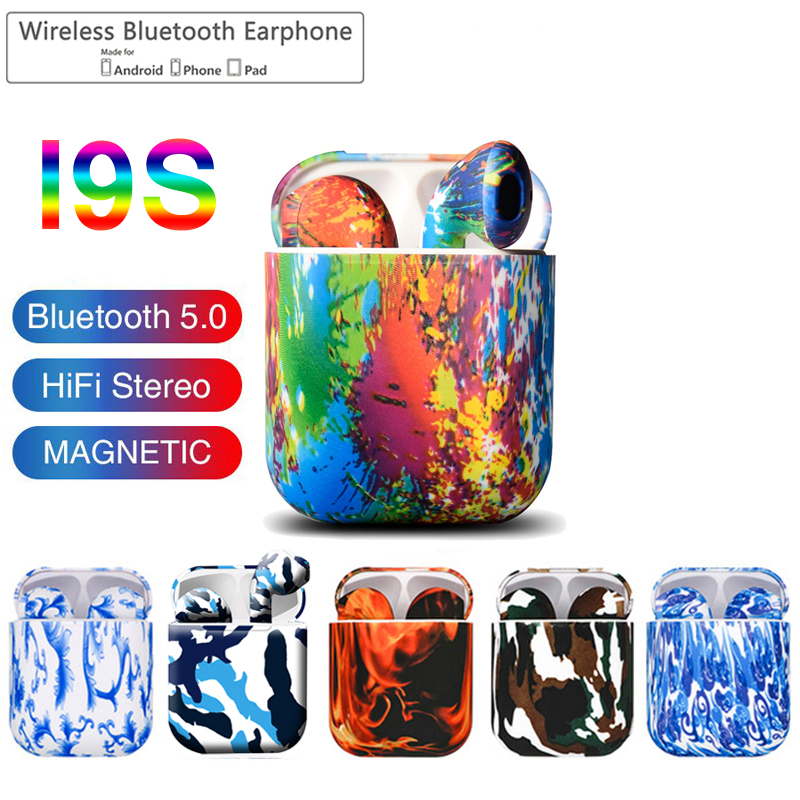 I9S TWS Colorful Wireless Mini Bluetooth Earbuds Wireless Headphones Stereo Portable Bluetooth Headsets I9s V5.0