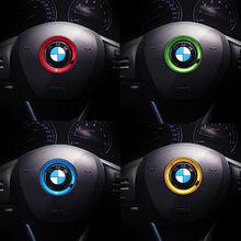 Автомобильная оплетка рулевого колеса отделкой круг, Цехин, Стикеры для BMW E61 E90 E82 E70 E71 E87 E88 E89 X5 X6 для 1 3 5 6 серии M3 M4 M5