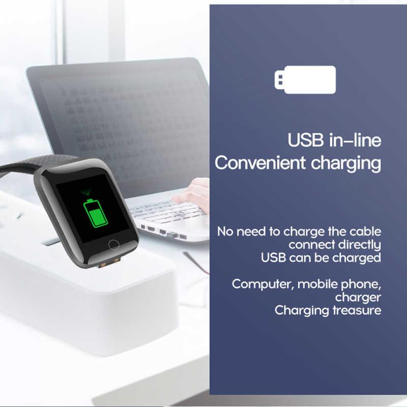 Más de 116 reloj pulsera inteligente Deportes de la presión arterial de llamadas mensaje recordatorio Android podómetro reloj inteligente
