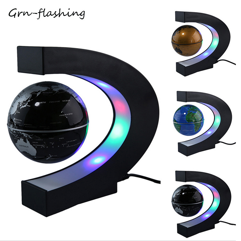 2019 NEW Magnetic Levitation LED Globe Night Light Floating World Map Ball Lamp Novelty Lighting For Table Home Office Decoratio