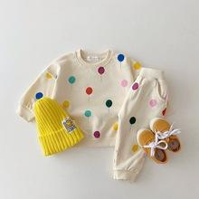 Zestawy ubrań dla niemowląt dla niemowląt zestaw ubrań dla chłopców balon bluza + spodnie 2 szt strój dla dzieci kostium 2021 jesienno-zimowa tanie tanio Facejoyous COTTON 7-12m 13-24m 25-36m CN (pochodzenie) Wiosna i jesień Na co dzień Z okrągłym kołnierzykiem Pulower