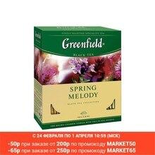 Чай Greenfield Spring Melody в пакетиках черный с ароматом фруктов и душистых трав 1,5*100